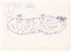 KAWS (born in 1974° UNTITLED (KAWS), CIRCA 1993 – 1994