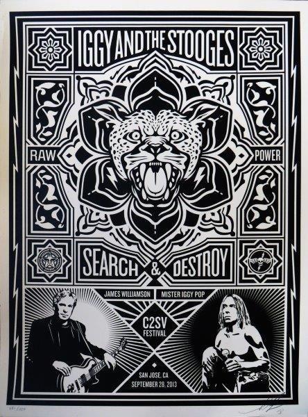 SHEPARD FAIREY (Américain, né en 1970) Iggy And The