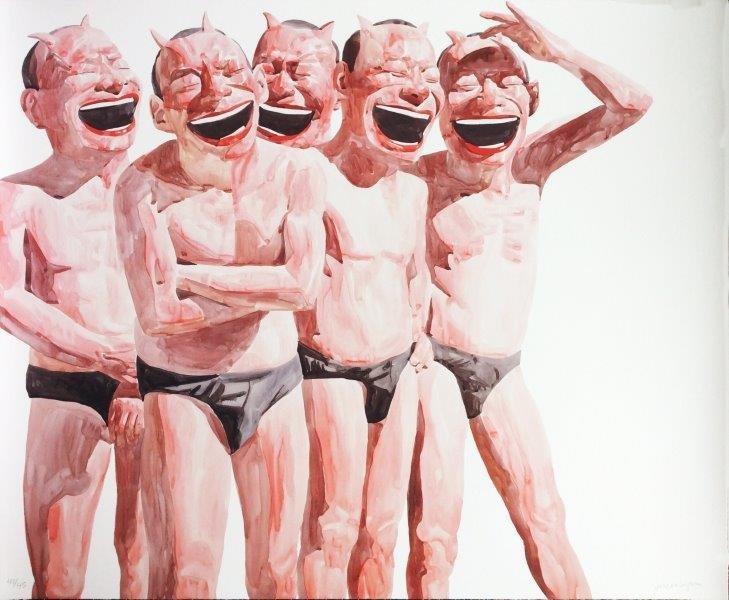 YUE MINJUN ( Chinois, né en 1963) Untitled (Smile-ism