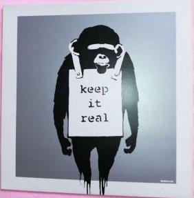 Banksy (britannique, Né En 1975) Vinyles Keep It Real,