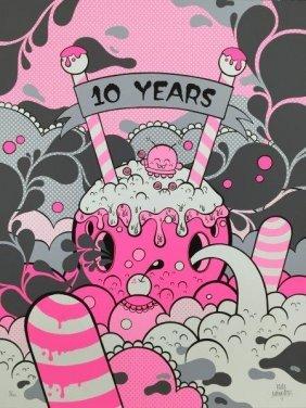 Buff Monster 10 Years, 2011 Sérigraphie En Couleurs Sur