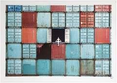 JR (Français, né en 1983) The Ballerina in Containers,