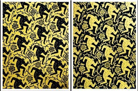 SHEPARD FAIREY et CLEON PETERSON Pattern of corruption,