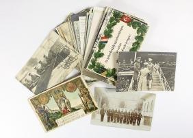 53 Postkarten (Feldpostkarten), vorwiegend Militä