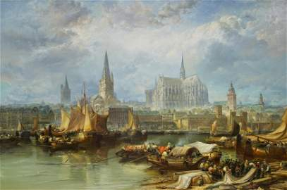 View of Cologne with the Unfinished Cathedral