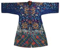 Blue-ground dragon robe for the Chinese opera
