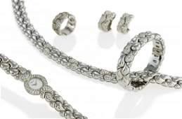 Casmir. Diamond-Set: Necklace, Watch, Ring, Bangle, Ear