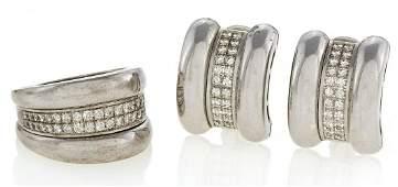 La Strada. Set: Ring and Ear Clip-Ons