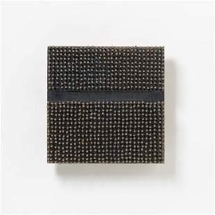 Bernard Aubertin | Rhytme infini monochrome noir bois