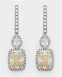 Paar extravagante Diamantohrgehänge