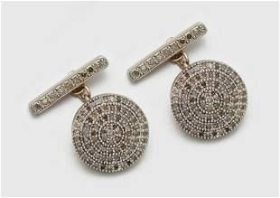 Paar russische DiamantManschettenkn246pfe