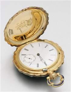 Historisch bedeutende Schmuck-Taschenuhr mit