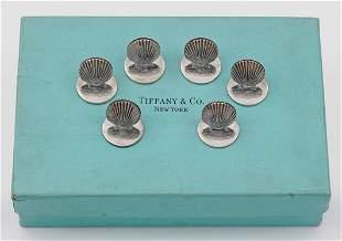 Sechs Tiffany-Tischkartenhalter