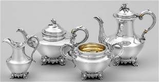 Viktorianisches Kaffee und Teeservice