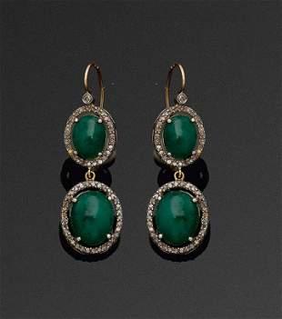Paar russische Smaragdohrgeh228nge
