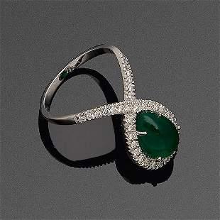 Dekorativer Smaragdring