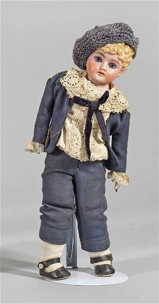 Spätbiedermeier-Jungenpuppe von C.F. Kling & Co.