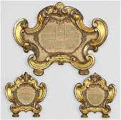 Drei Kanontafeln im Barockstil