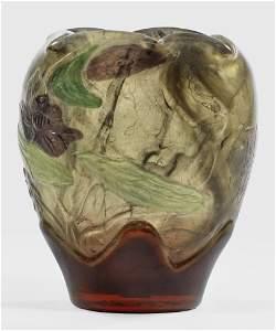 Bedeutende Marqueterie-Vase mit geschnittenem