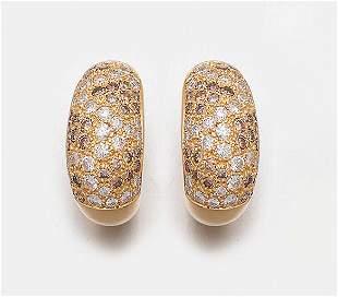 Paar DiamantOhrclips von Cartier