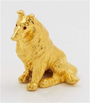 Goldener Langhaarcollie