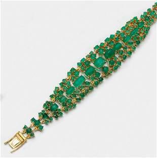 Prunkvolles SmaragdArmband