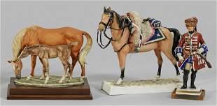 Konvolut von drei Porzellanfiguren