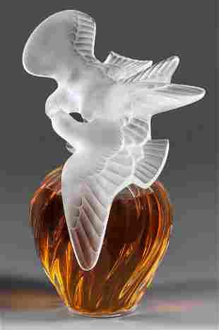 """Großer Lalique-Parfumflakon """"Air du Temps"""" fü"""