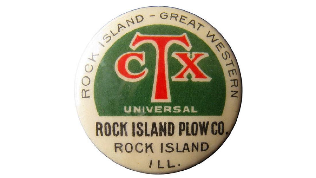 Rock Island Great Western Celluloid Pinback
