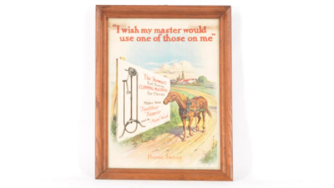 Stewart Horse Clipper Paper Sign