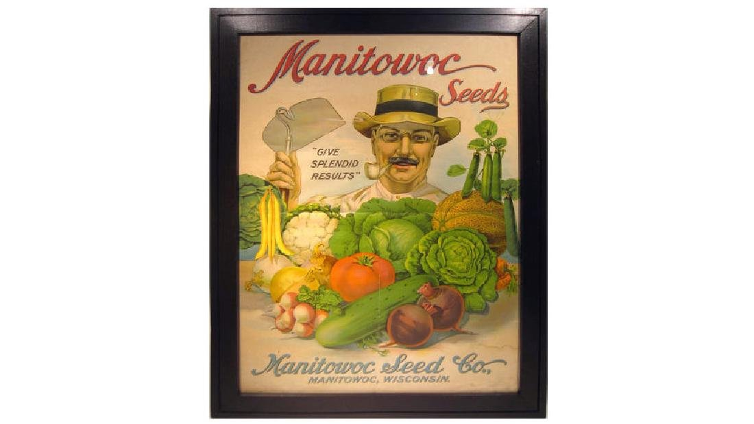 Manitowoc Seed Co Paper Sign 25x34