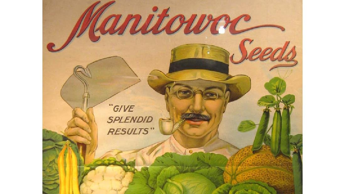 Manitowoc Seed Co Paper Sign 25x34 - 2