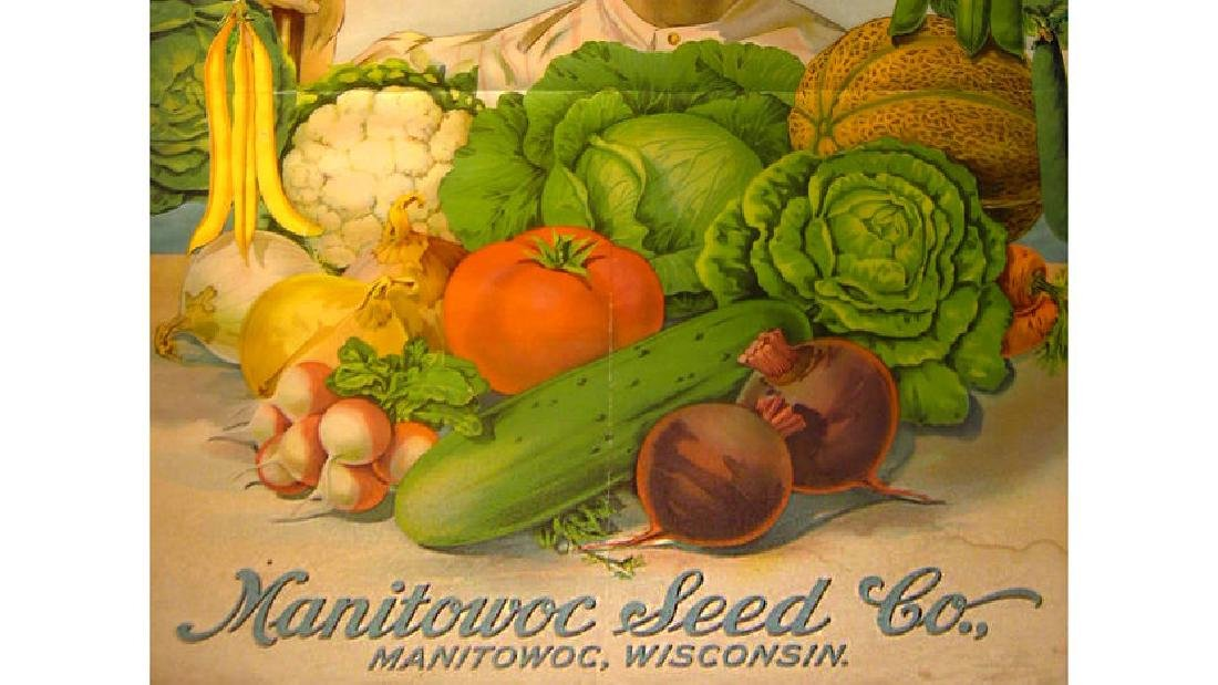 Manitowoc Seed Co Paper Sign 25x34 - 3