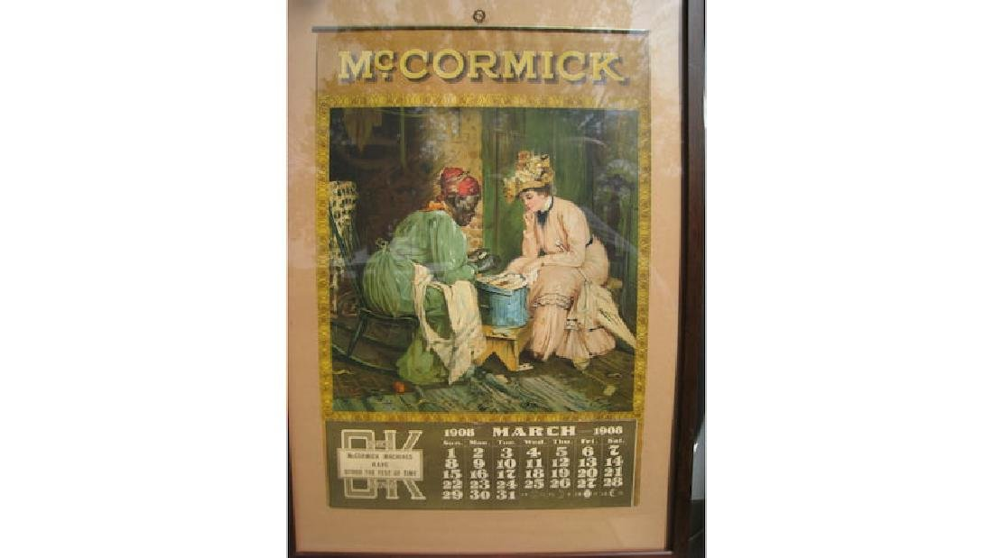 1908 Mccormick Farm Machinery Paper Calendar