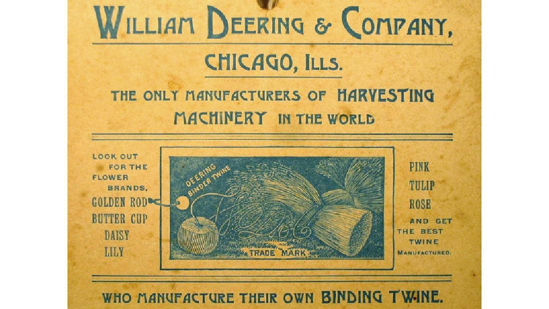 William Deering Harvesting Match Holder 5.25x7.75 - 3