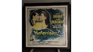 Gary Grant In Notorious Movie Poster 90 In. X 90 In.