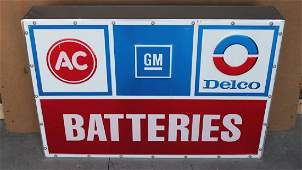 AC Delco Batteries Light Up Sign