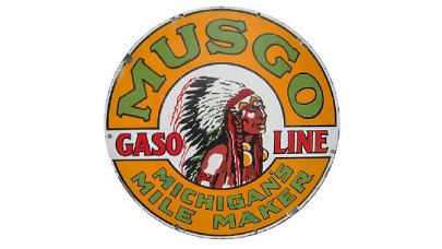 Musgo Gasoline Sign DSP 48 In. X 48 In.