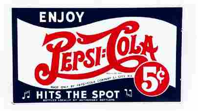 Pepsi Hits The Spot DSP 56 In. X 32 In. Double-Sided