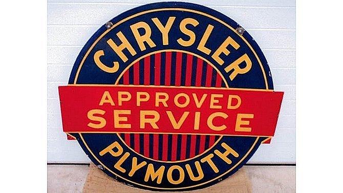 J42 -  Chrysler Approved Service Sign SSP