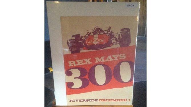 H4 -  Rex Mays 300 Poster Riverside December 1
