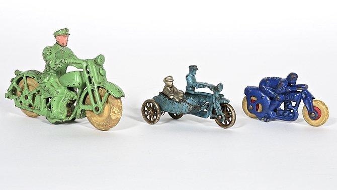 K23 -  Cast Iron Hubley Motorcycle Toys