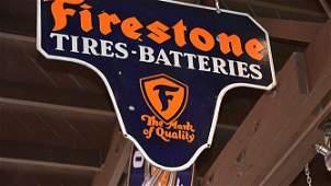 M128 - Firestone Tires Batteries Sign