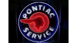 Q73 - Pontiac Service Neon Sign SSPN
