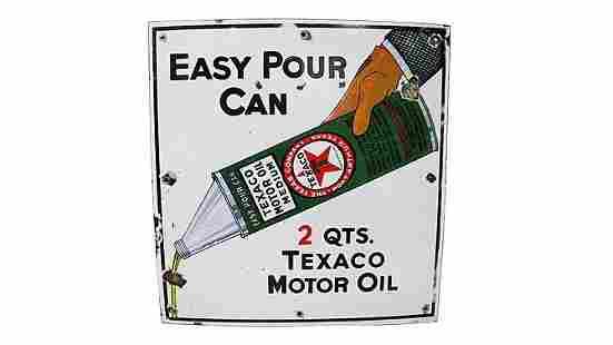 Z9 - Texaco Easy Pour Can Sign