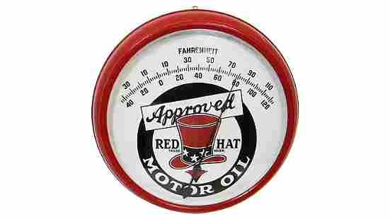 Z15 - Red Hat Motor Oil Thermometer