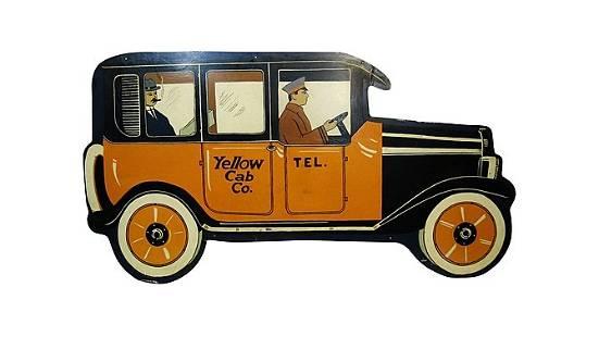 Z22 - Yellow Cab Diecut Sign SST