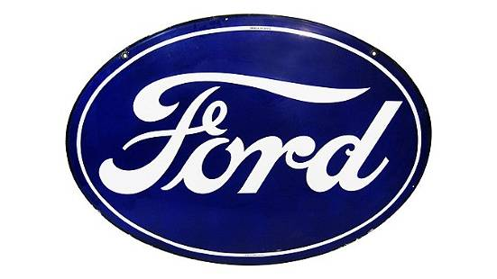 Z23 - Ford Oval Hanging Sign