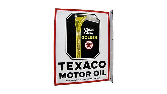 Z89 - Texaco Motor Oil Flange Sign