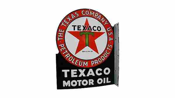 Z241 - Texaco Motor Oil Flange Sign